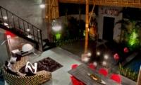 Living and Dining Area at Night - Esha Seminyak 2 - Seminyak, Bali