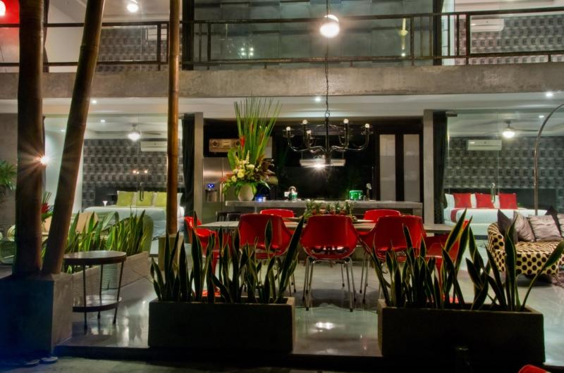 Dining Area at Night - Esha Seminyak 2 - Seminyak, Bali