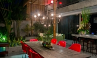 Outdoor Dining at Night - Esha Seminyak 2 - Seminyak, Bali