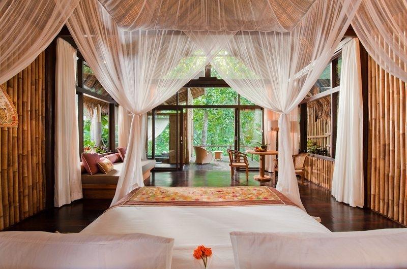 Bedroom with Wooden Floor - Fivelements - Ubud, Bali