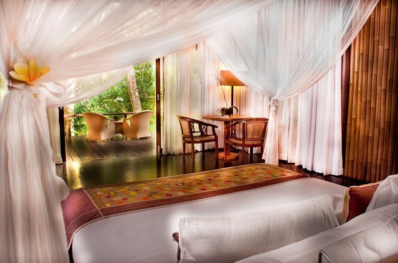 Bedroom and Balcony - Fivelements - Ubud, Bali