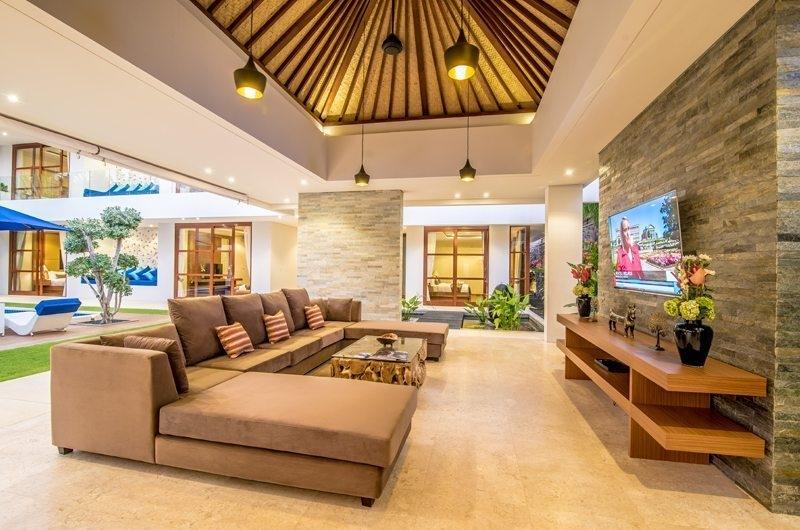 Living Area with TV - Freedom Villa - Seminyak, Bali