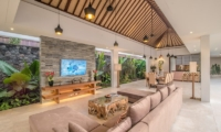 Living and Dining Area with TV - Freedom Villa - Seminyak, Bali