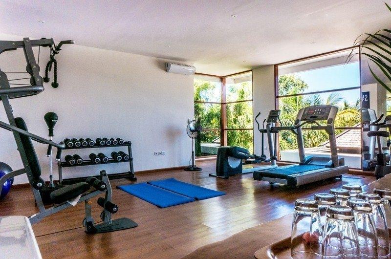 Gym with Wooden Floor - Freedom Villa - Seminyak, Bali