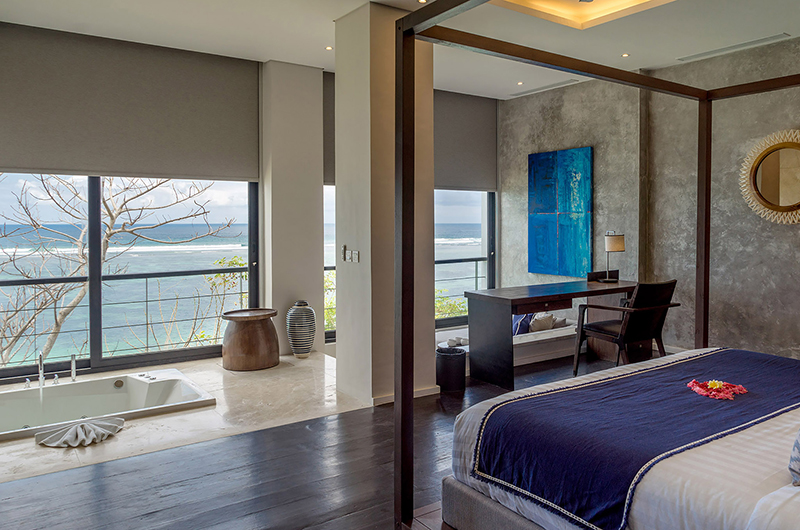 Bedroom and Bathtub with Sea View - Grand Cliff Nusa Dua - Nusa Dua, Bali