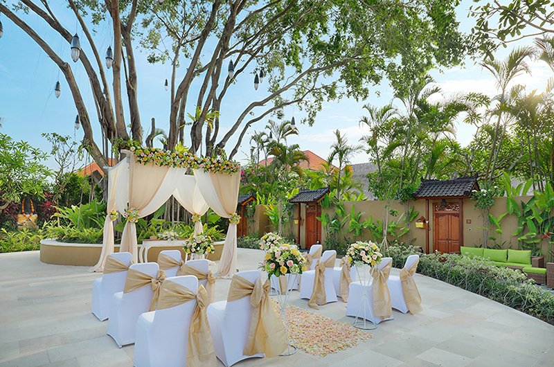 Outdoor Wedding Set Up - Impiana Seminyak - Seminyak, Bali
