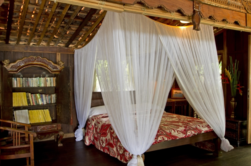 Bedroom with Mosquito Net - Isle East Indies - Thousand Islands, Indonesia