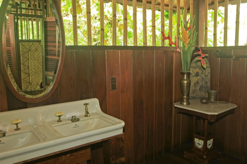 His and Hers Bathroom with Mirror - Isle East Indies - Thousand Islands, Indonesia