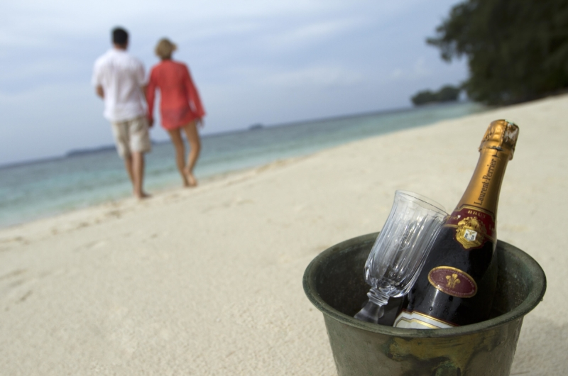 Beach Side with Drinks - Isle East Indies - Thousand Islands, Indonesia