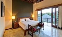 Bedroom with Side Lamps and View - Jabunami Villa - Canggu, Bali