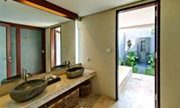 His and Hers Bathroom with Mirror - Jabunami Villa - Canggu, Bali