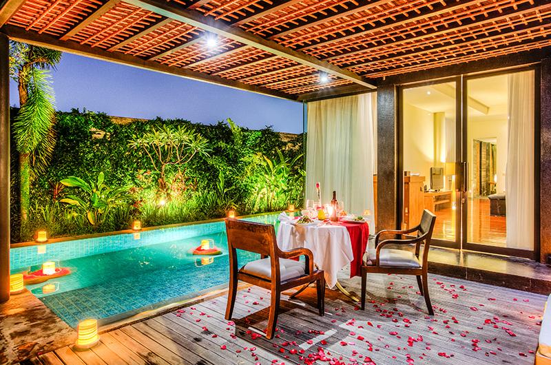 Pool Side Romantic Dining - Javana Royal Villas - Seminyak, Bali