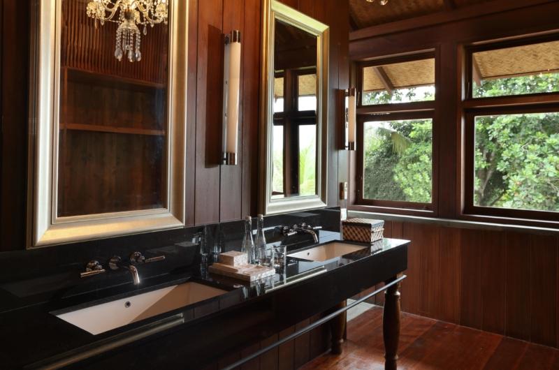 His and Hers Bathroom with Mirror - Jeeva Saba Estate - Gianyar, Bali