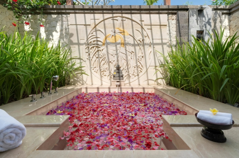 Romantic Bathtub with Rose Petals - Kaba Kaba Estate - Tabanan, Bali