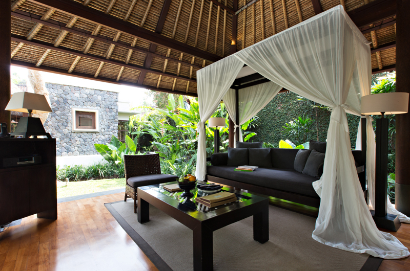 Living Area with Wooden Floor - Kayumanis Ubud - Ubud, Bali