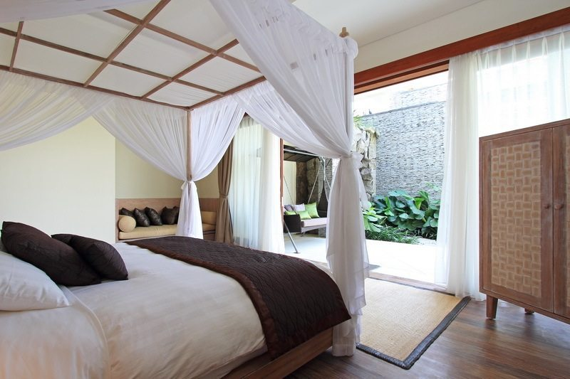 Four Poster Bed with View - Kemala Villa - Canggu, Bali
