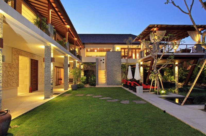 Outdoor View at Night - Kemala Villa - Canggu, Bali