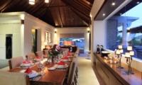 Dining Area with Crockery - Kemala Villa - Canggu, Bali