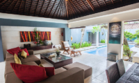 Living Area with Pool View - Kembali Villas - Seminyak, Bali