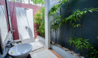 Semi Open Bathroom with Shower - Kembali Villas - Seminyak, Bali