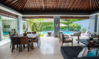 Living and Dining Area with Pool View - Kembali Villas - Seminyak, Bali