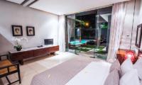 Bedroom with TV - Kembali Villas - Seminyak, Bali