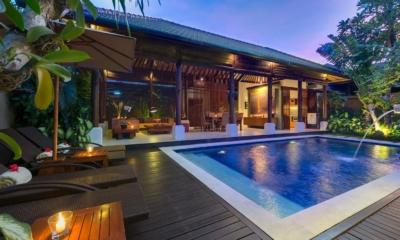 Swimming Pool at Night - Lakshmi Villas - Seminyak, Bali