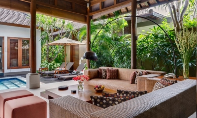 Living Area with Pool View - Lakshmi Villas - Seminyak, Bali