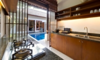 Kitchen with Pool View - Lakshmi Villas - Seminyak, Bali