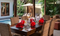 Dining Area with Pool View - Lakshmi Villas - Seminyak, Bali