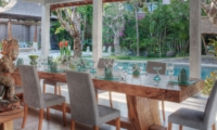 Dining Area with Pool View - Lataliana Villas - Seminyak, Bali