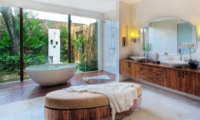 Semi Open Bathroom with Bathtub - Lataliana Villas - Seminyak, Bali