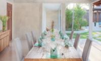 Dining Area with Garden View - Lataliana Villas - Seminyak, Bali