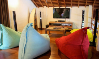 Bedroom with Wooden Floor and TV - La Villa Des Sens Bali - Kerobokan, Bali