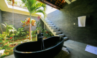 Semi Open Bathroom with Bathtub - La Villa Des Sens Bali - Kerobokan, Bali