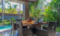 Dining Area with Pool View - Le Jardin Villas - Seminyak, Bali