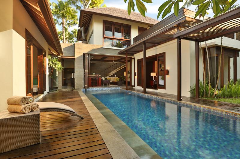 Pool Side Loungers - Le Jardin Villas - Seminyak, Bali