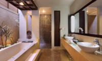His and Hers Bathroom with Bathtub - Le Jardin Villas - Seminyak, Bali