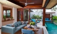 Pool Side Living Area - Maca Villas - Seminyak, Bali