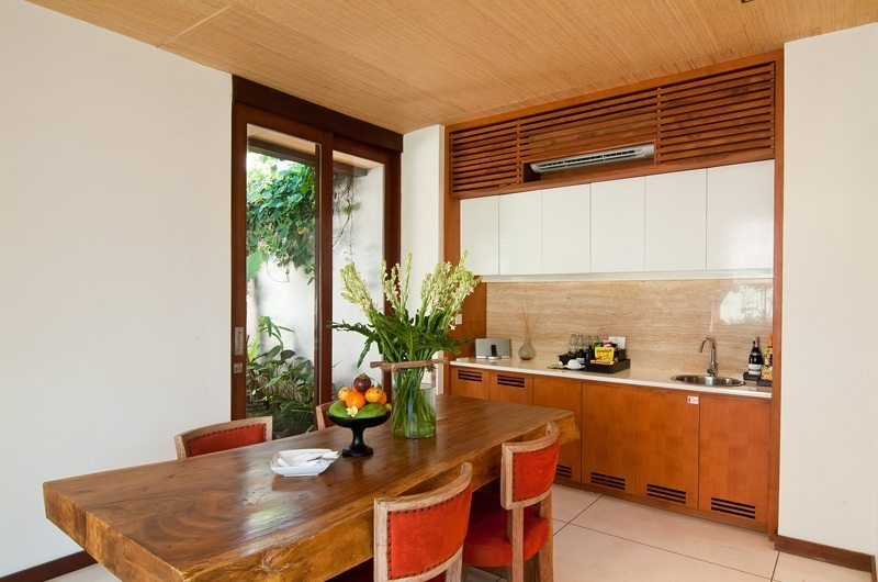 Kitchen and Dining Area - Maca Villas - Seminyak, Bali
