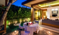 Romantic Dining by Pool Side - Maca Villas - Seminyak, Bali