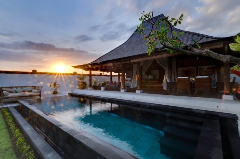 Pool with Sun Set View - Majapahit Beach Villas - Sanur, Bali