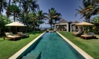 Reclining Sun Loungers at Day Time - Majapahit Beach Villas - Sanur, Bali