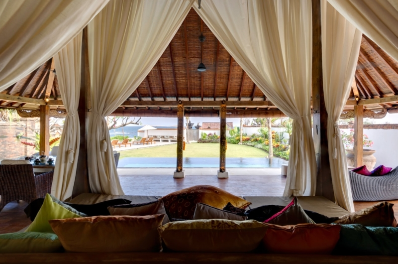 Living Area with Pool View at Day Time - Majapahit Beach Villas - Sanur, Bali