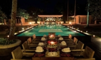 Pool Side Dining - Matahari Villa - Seseh, Bali