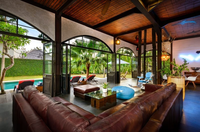 Living Area with Pool View - Niconico Mansion - Seminyak, Bali