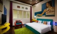 Bedroom with TV - Niconico Mansion - Seminyak, Bali
