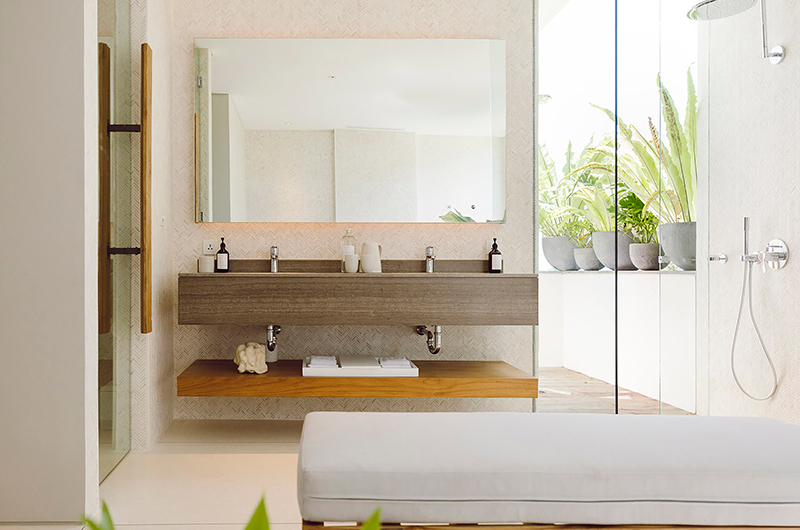 Bathroom with Mirror - Noku Beach House - Seminyak, Bali