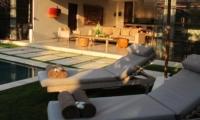 Sun Loungers - Nyaman Villas - Seminyak, Bali