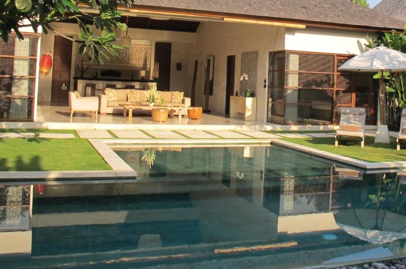Living Area with Pool View - Nyaman Villas - Seminyak, Bali